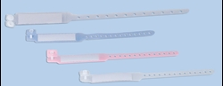 Bracelet d'identification, adulte, blanc, 100 pcs