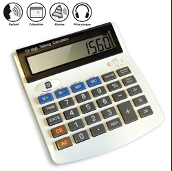 Calculatrice parlante, volume réglable +90dB
