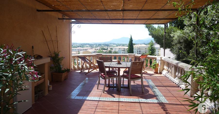 BASTIDE BEAUVALLON - Hyères - Belle bastide provençale, grande terrasse, JARDIN,  jacuzzi, vue dominante,  TRÈS CALME